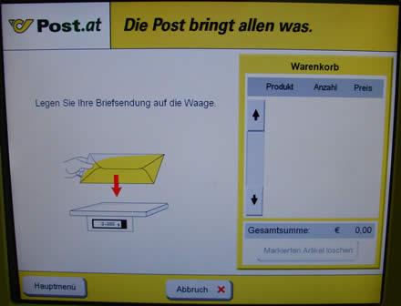 Intuitiv Usability Test Der Post Briefaufgabeautomaten